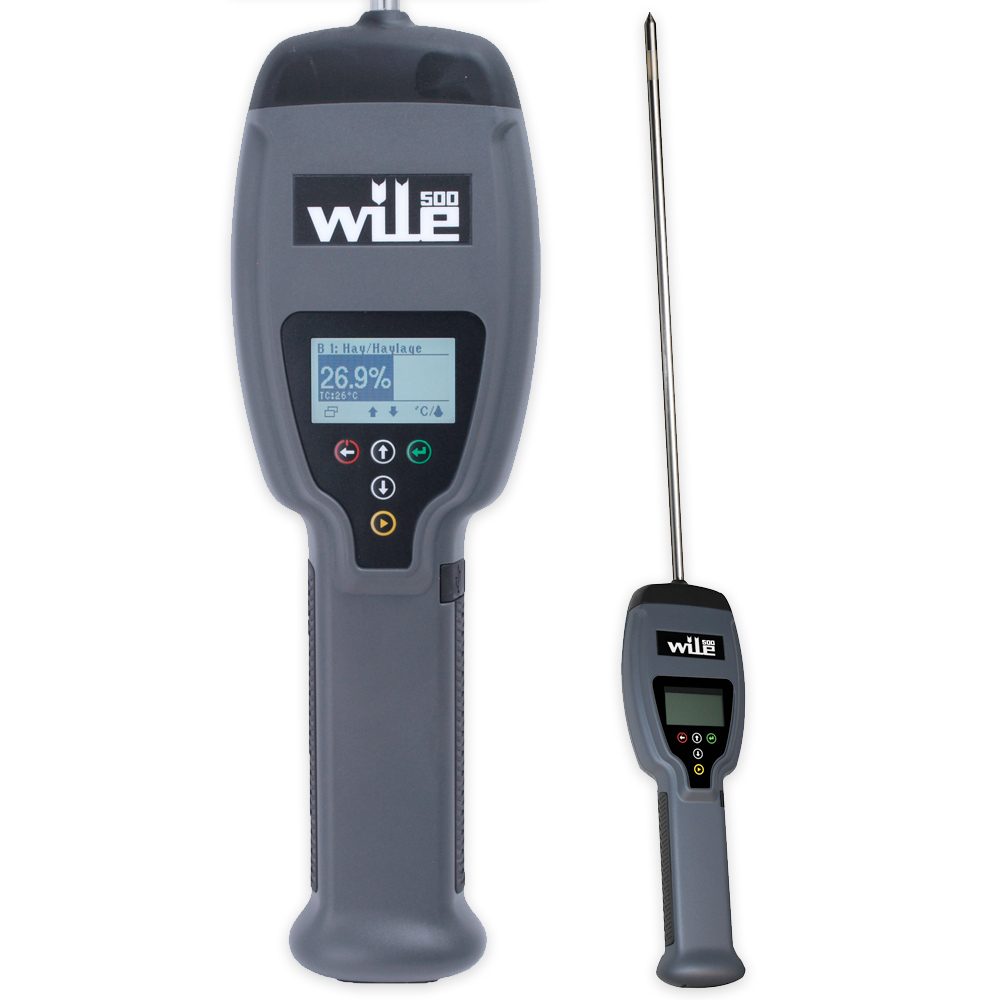 Wile 500: a moisture and temperature meter for baled hay, haylage, straw and silage.