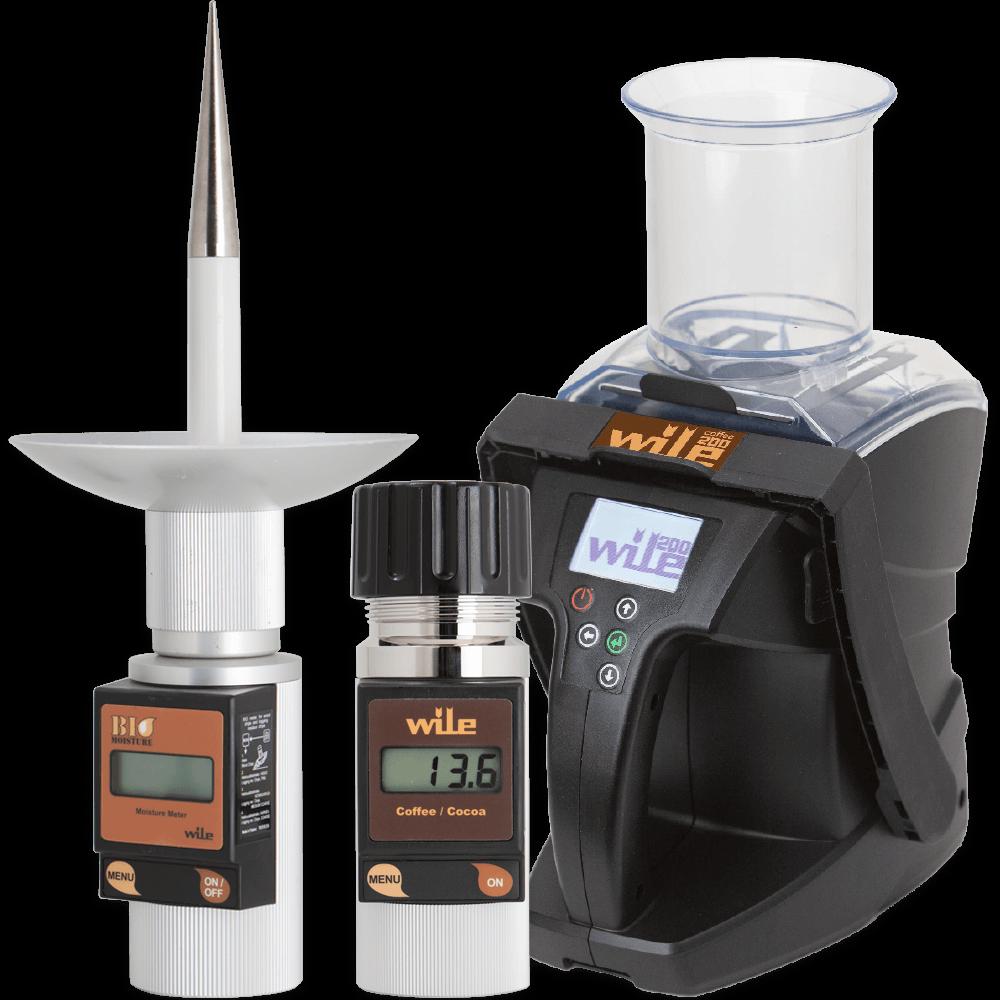 Wile coffee Wile coffee & cocoa ja Wile Bio moisture -kosteusmittarit
